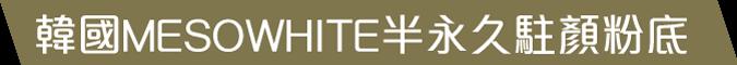 韓國MESOWHITE半永久駐顏粉底